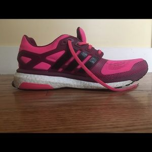 Adidas Energy Boost athletic shoes, 8.5